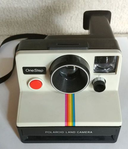 Vintage-Polaroid-SX-70-One-Step-White-Rainbow-Stripe-Instant-Land-CameraTested