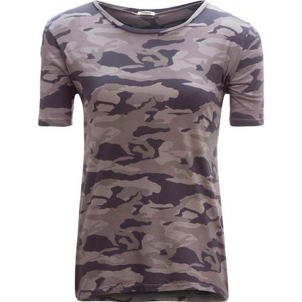 You've had a hard week and you've earned a morning on the couch. Pull on your Monrow Women's Camo Oversized Crew and cozy up with a hot cup of coffee while you watch the rain come down outside.