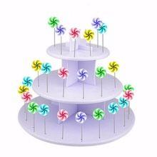 Lízátko Cake Stand Holder košíček dezert nádobí obrazovka pop dort dezert věž svatební dekorace 3 Úrovně (Čína (pevninská část))