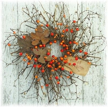 Berry and twig fall wreath: Holiday, Fall Ideas, Decorating Ideas, Fall Decorating, Fall Wreaths, Ideas Crafts Wreath, Autumn Wreaths, Halloween