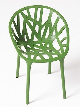 mobilier : fauteuil vert, Végétal, édité par Vitra - Design frères Bouroullec