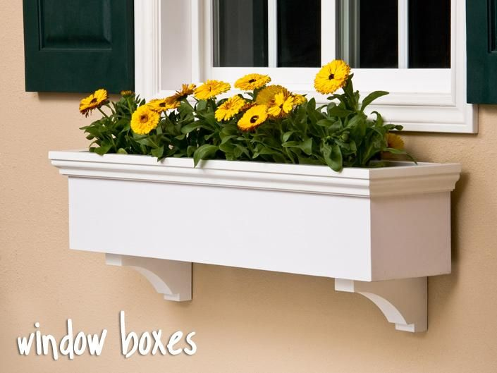 window box | Flower Boxes & Window Box Planters – PVC, wood, iron, copper & more ...