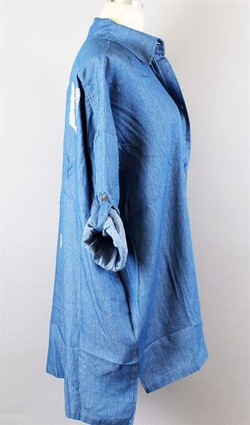 Relaxed Fit Slouchy Denim Shirt from Gypsy Outfitters