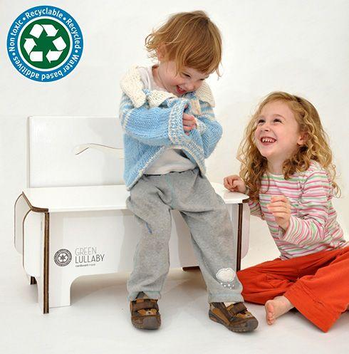 Panchina in robusto cartone riciclato per bambini