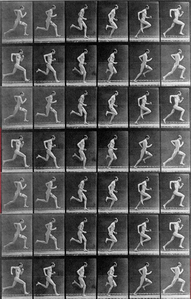 Eadweard Muybridge. I find this photo appealing because of the way the action is caught so clearly in each photo. Each individual one transitions smoothly into the next.