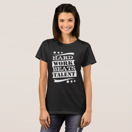 Funny Sarcastic T-Shirt Hard Work Beats Talent Tee - Xmas ChristmasEve Christmas Eve Christmas merry xmas family kids gifts holidays Santa