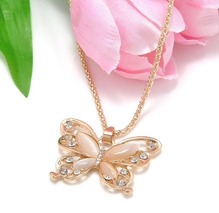 Butterfly Pendant Necklace – PawzOutlet