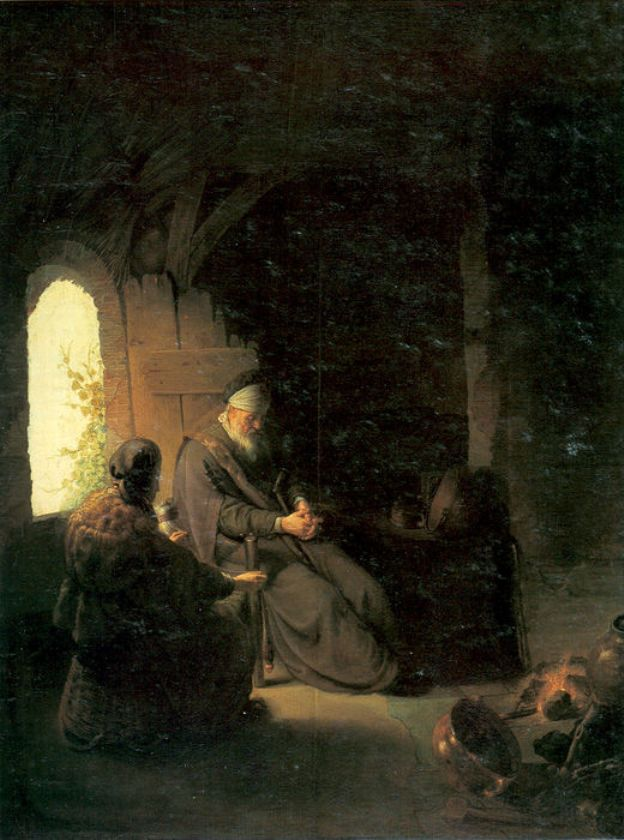 Anna and the Blind Tobit by Rembrandt - by style - Baroque