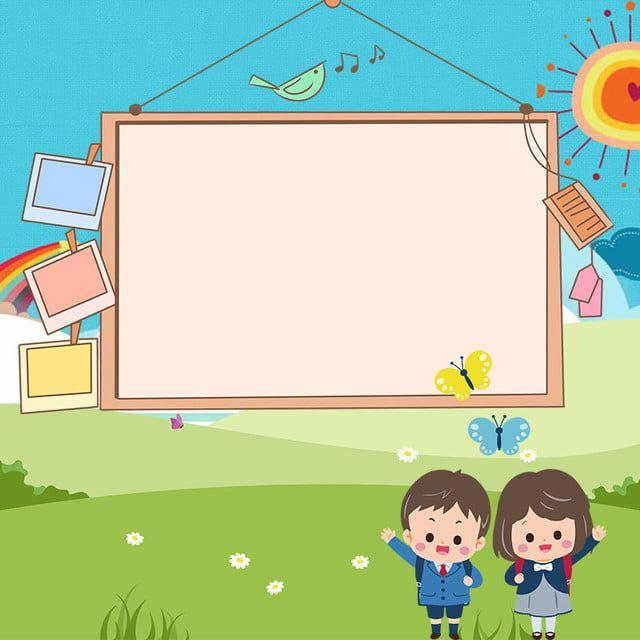 جائزة الطالب في المدرسة الابتدائية ملصق المواد الاساسية Arte Da Sala De Criancas Plano De Fundo De Desenhos Animados Desenhos De Criancas Brincando