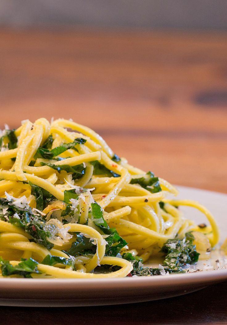 Spaghetti mit Bärlauch - pefekt für den Frühling