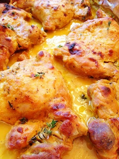 ... Eating for the Realistically Minded: Mustard Maple Chicken Thighs