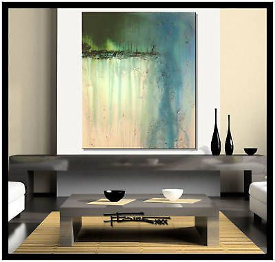 MODERN ABSTRACT PAINTING CANVAS WALL ART..READY TO HANG...ELOISExxx