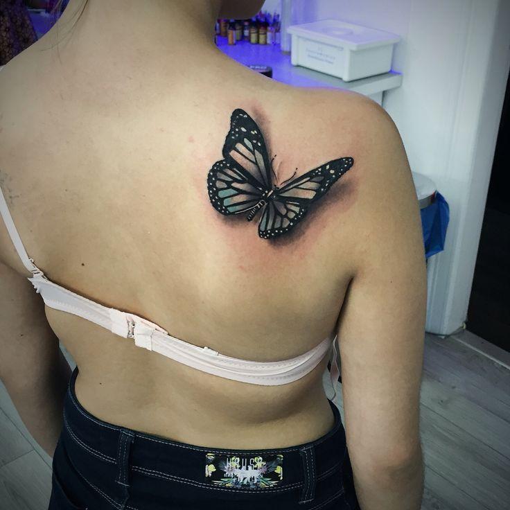 Butterfly Tattoo. Artist Dominik Szymkowiak. Artline studio. www.arttattoo.pl