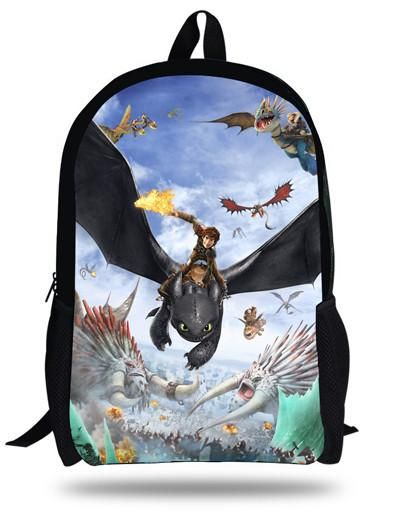 16inch How to Train Your Dragon Backpack Kids School Bags For Boys Children Backpacks Cartoon Hiccup Toothless Printing