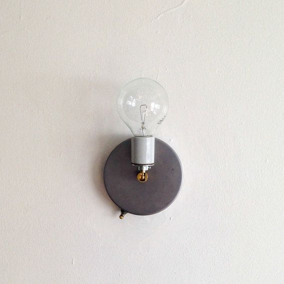 Switched Wall Light Porcelain Base by PoliteKCMO on Etsy