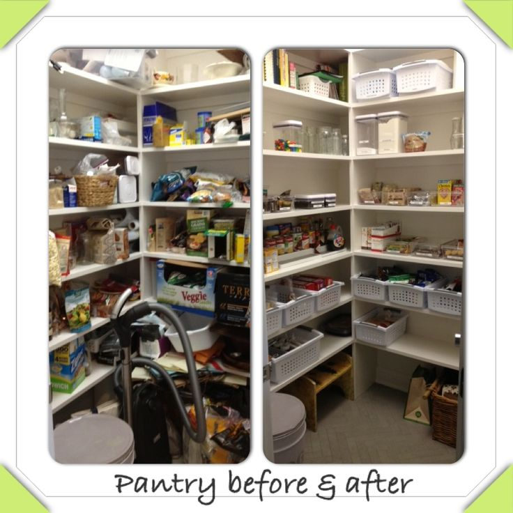 Pantry Organizing Before After Home Pinterest