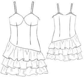 example - #5216 Dress with frills