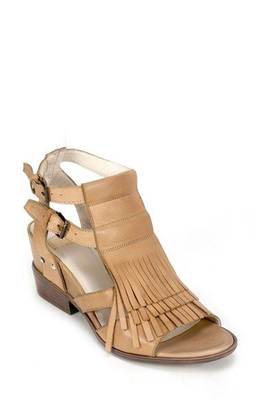 Summit by White Mountain 'Gera' Leather Fringe Sandal (Women) available at #