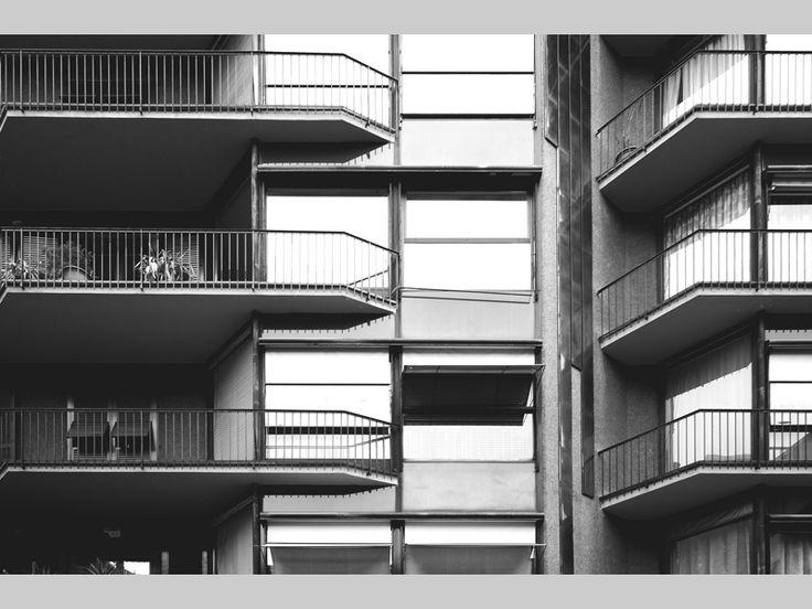 Edificio per abitazioni 1956 - 1959 _ Luigi Caccia Dominioni  Dettaglio di facciata