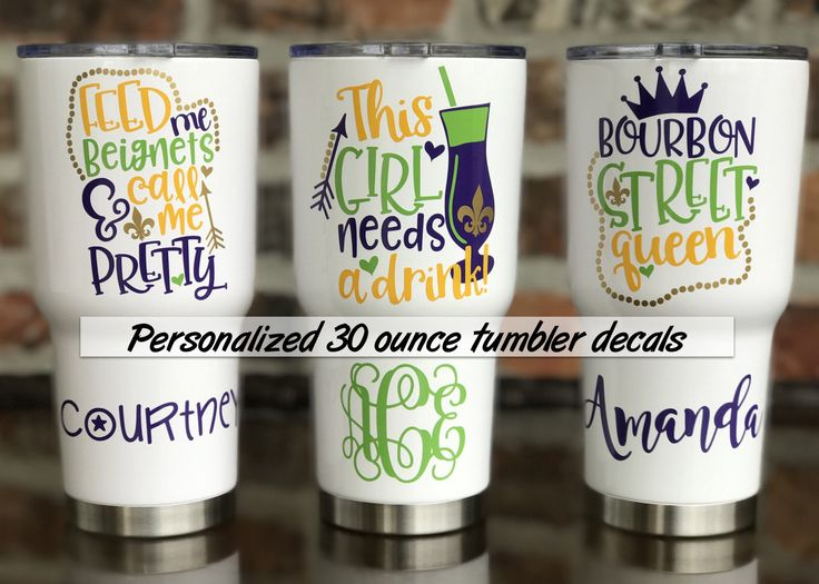 Mardi Gras Decal /  New Orleans  / Fat Tuesday / New Orleans Bachelorette Cup 30 ounce Decals by VinylGifts on Etsy https://www.etsy.com/listing/508385447/mardi-gras-decal-new-orleans-fat-tuesday