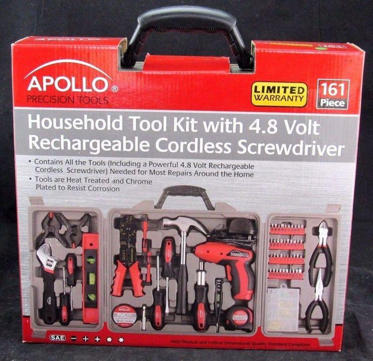 Apollo Tools Apollo Precision Tools DT0738 Household Tool Kit, 161-Piece