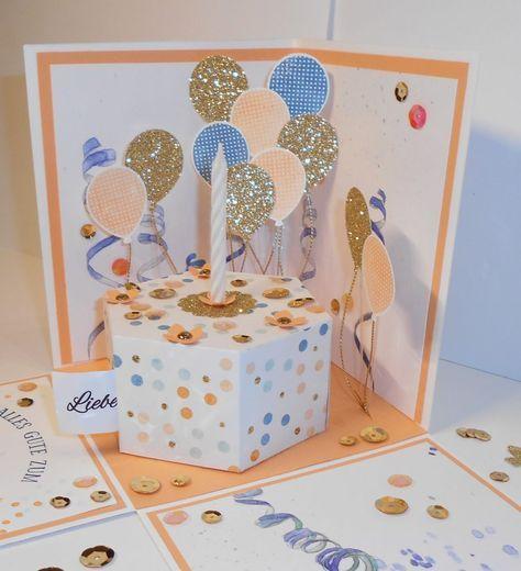 Ein besonderer Kuchen in der Box zum 50. – Kleine Stempelmiez – Basteln aus Liebe
