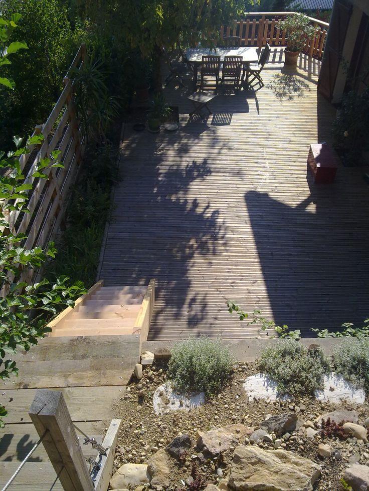 17 meilleures images propos de jardins en pente sur for Photo amenagement exterieur terrain en pente