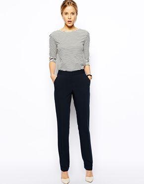 Bild 1 von ASOS – Gerade geschnittene Hose mit Paspeltasche