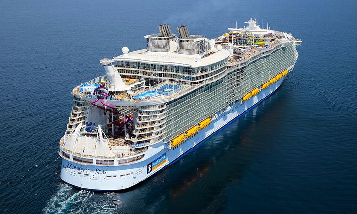 Harmony of the Seas er verdens største cruiseskip, med plass til 6780 passasjerer og mye moro. Foto: RCL/ Harmony of the Seas