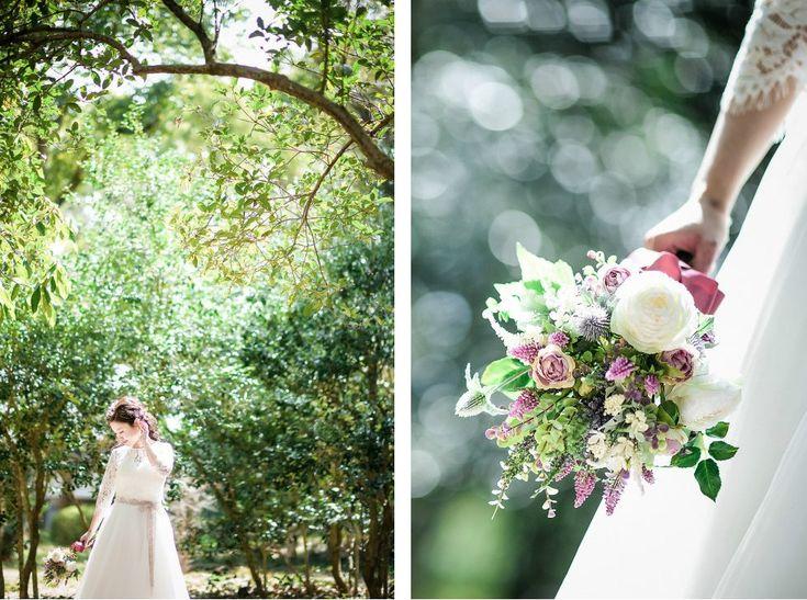Photography: atelier marugo #京都府立植物園 #前撮り #ロケーションフォト #ウエディングブーケ #ブーケ