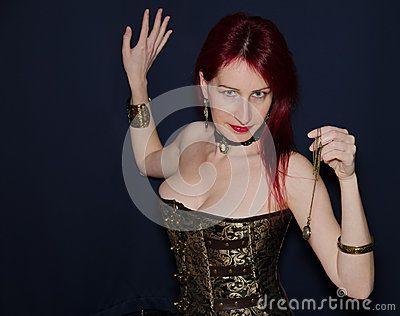 Portrait of steampunk woman! #Steampunk #Woman #Portrait #Gothic #Victorian #Style #Fashion #Model #Beauty #Closeup #RedHead #RedHair #hairstyle #Jewellery #Bracelets #Corset #Cameo #BlueEyes #Face #Beauty