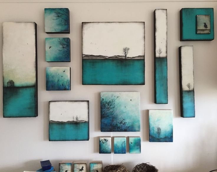 ....a collection of my turquoise inspired artwork, last of 2016. Looking so forward in creating more artwork,evolving every day. So much gratitude!!!!! ENCAUSTIC ARTWORK