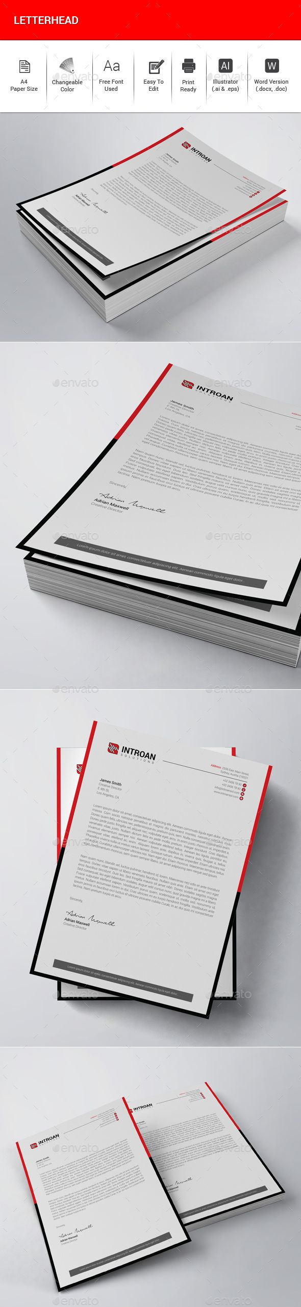 The 25 best letterhead template ideas on pinterest letterhead letterhead stationery print templates download here https graphicriver spiritdancerdesigns Choice Image