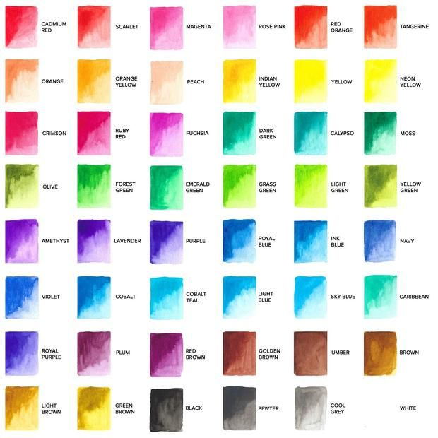48 Pan Watercolor Palette With Bonus Paper Pad Palette Paper