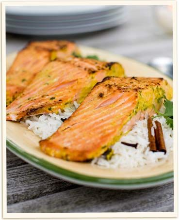 Tandori Style Salmon — Use Nancy's yogurt as a tenderizer in this delicious seafood dish! (Click on image for recipe)
