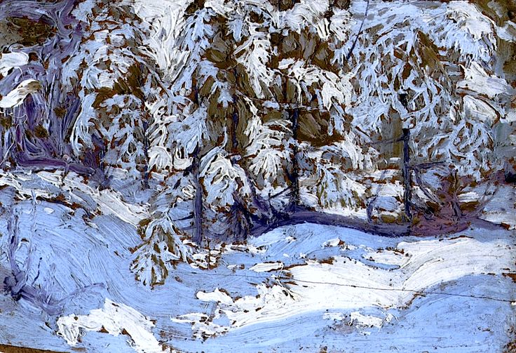 bofransson: First Snow in Autumn Tom Thomson - 1916