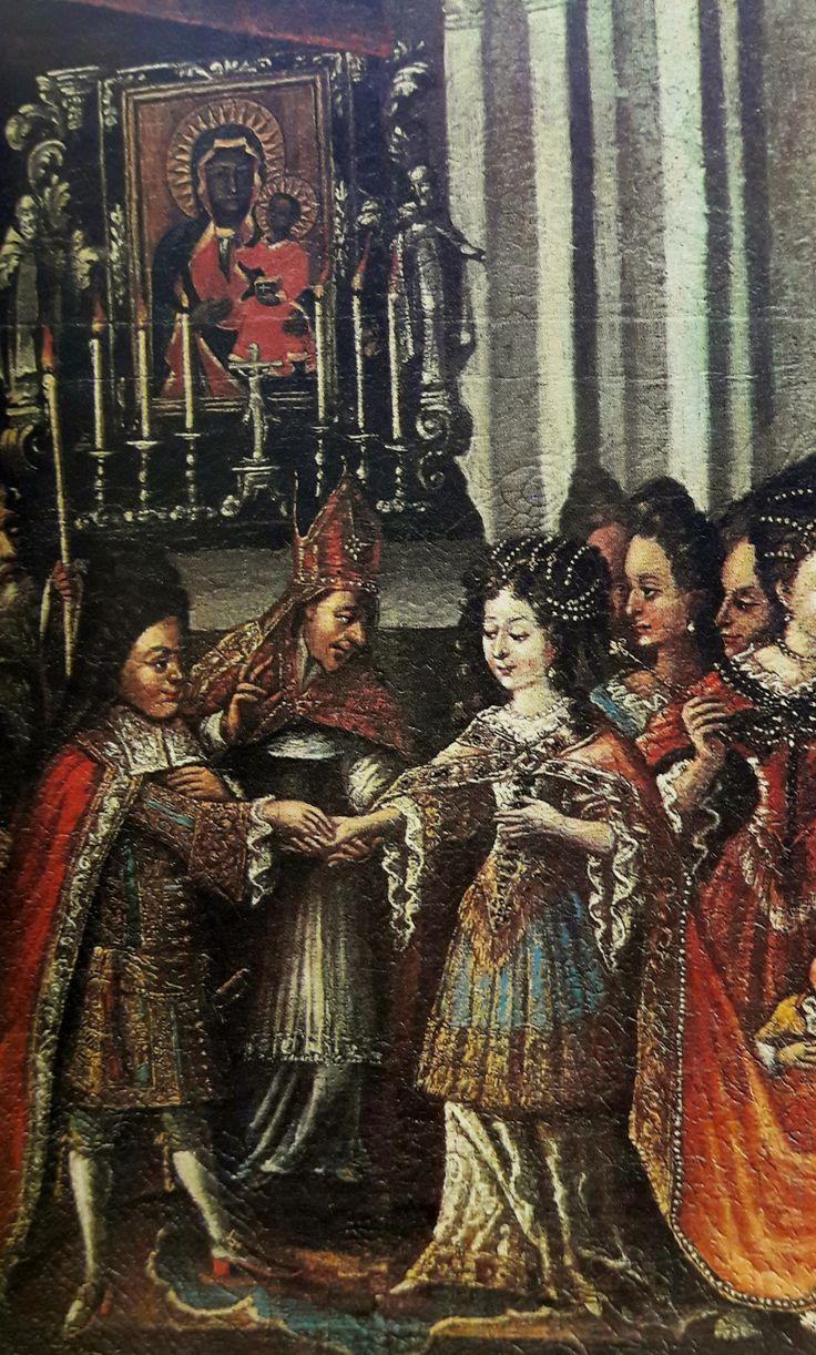 Detail of Marriage of King Michael Korybut Wiśniowiecki with Eleanor Maria Josepha of Austria in the Jasna Góra Monastery by Anonymous from Poland, 1680s (PD-art/old), Klasztor Paulinów na Jasnej Górze