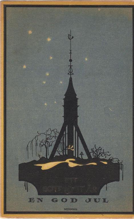 Annons på Tradera: 2 kort av Einar Nerman julkort och nyårskort