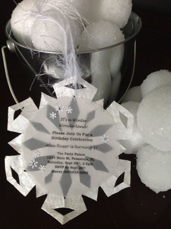 Snowflake Winter Wonderland Invitation by ThePolkaDottedRoom, $40.00
