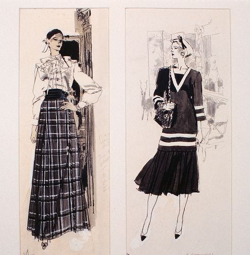 Fashion Illustration by Fred Greenhill | da FIT Library Department of Special Collections