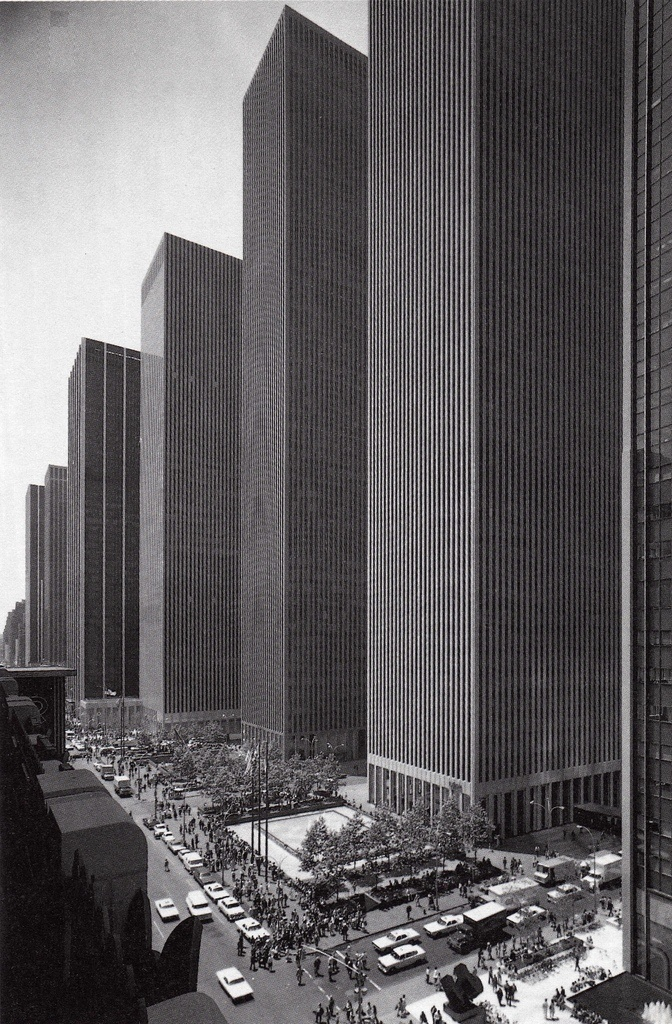 Skyscrapers on 6th Avenue in 1974, New York