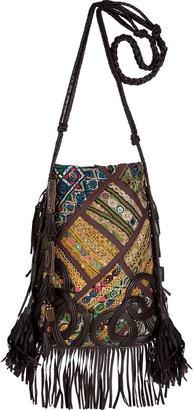 ShopStyle: Antik Batik Multicolor Embroidered Patchwork Shoulder Bag