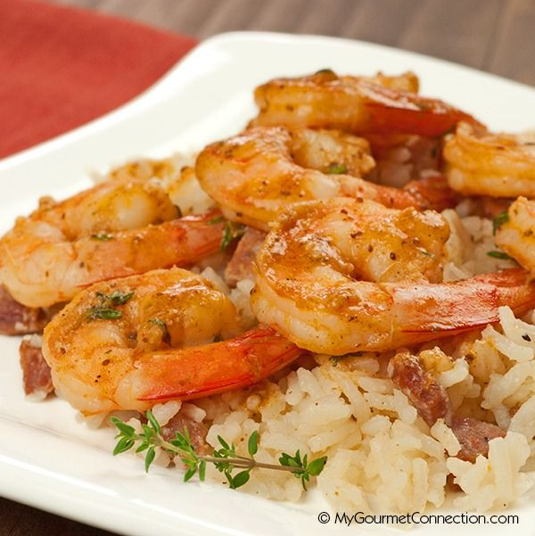Old Bay Shrimp Saute from MyGourmetConnection