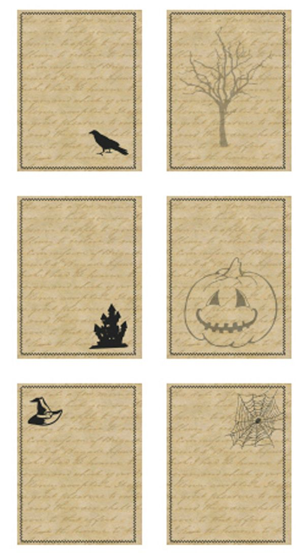 dear brighton : { NEW project life halloween printable journaling cards }