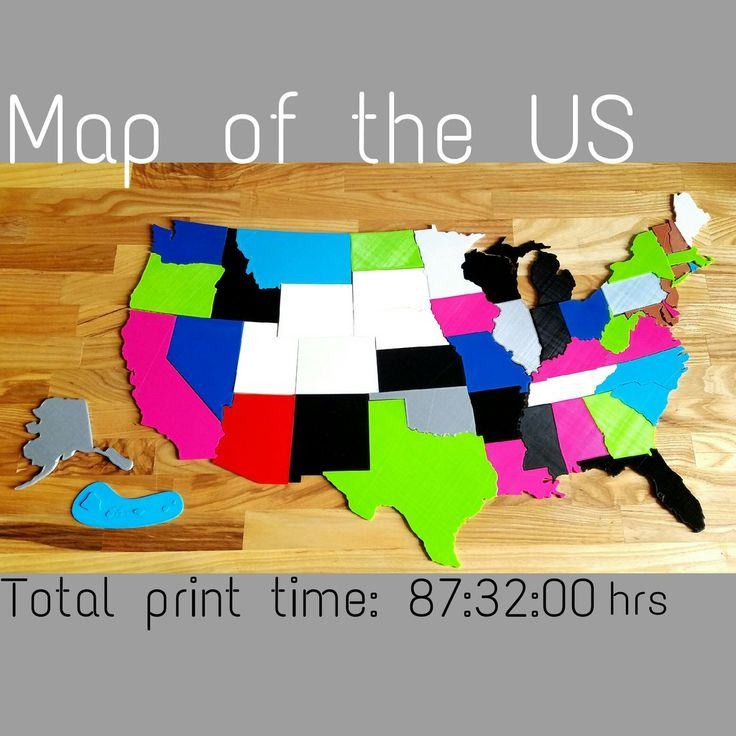 Map of USA States puzzle by remyspencer
