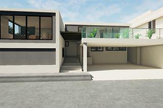 Simulación 3d interactivo Fachada Exterior Casa