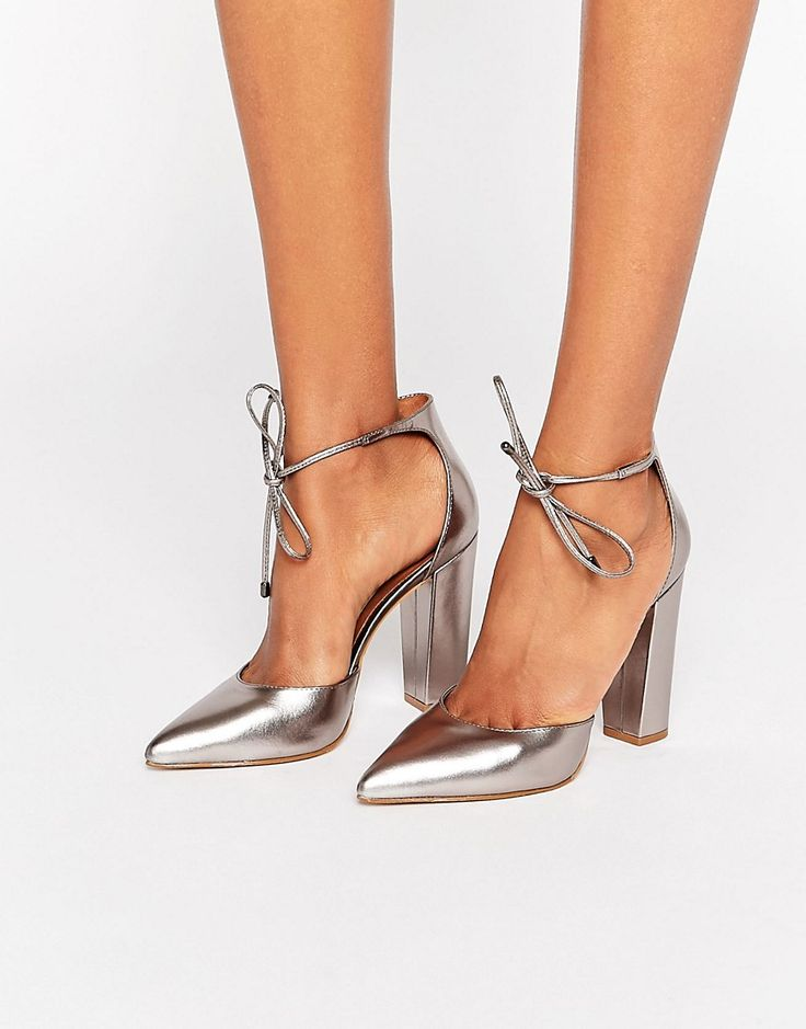 Steve Madden Pampered Pewter Heeled Shoes