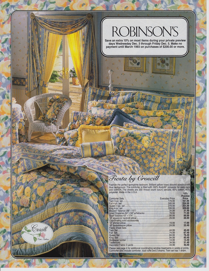 Fiesta Bedding Ad for Robinsons