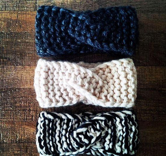 This rustic and simple headband will keep your ears warm and cozy, not to mention it looks so cute! It is knit with 2 strands of yarn held together to