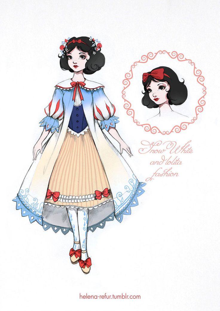 My loli-version of disney Snow White in dress of BABY, THE STARS SHINE BRIGHT. ^_^